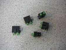 KINGBRIGHT 3mm Bi-Level Green LED Indicator Diffused 4-Pin/BLACK Housing  5/PKG