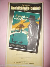 Verbrechen am Windberg DDR Filmplakat 1956 60x28 cm gerollt East movie poster tp