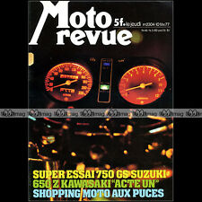 MOTO REVUE N°2304 SUZUKI GS 750 RM B 125 KAWASKI Z 650 BIMOTA SB2 GARELLI 1977
