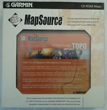 GARMIN GPS MAPSOURCE UNITED STATES TOPO TOPOGRAPHIC CD-ROM MAPS TRIP & WAYPOINT