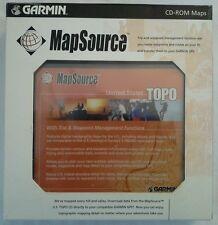 GARMIN GPS MAPSOURCE UNITED STATES TOPO TOPOGRAPHIC CD-ROM MAPS TRIP & WAYPOINT