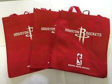 3 Houston Rockets Reusable Green Shopping Grocery Bags NEW NBA