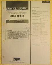 Sansui AU-G11X Integrated Amplifier Service Manual vtg Sansui Repair Information
