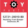 52721-20010-B0 Toyota Moulding, front bumper extension, rh 5272120010B0, New Gen