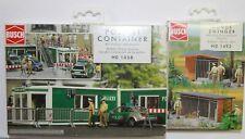 Busch H0 1058 Polizei-Container + Polizeiauto, 1492 Hundezwinger Bausatz neu OVP