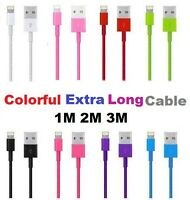 1M 2M 3M USB Charging Lead Data Cable FOR iPhone 5S 5C 5 6 6S 6 Plus iPad 5