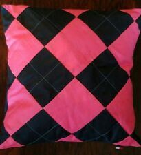 New Tommy Hilfiger Argyle Hot Pink Navy Square Decorative Throw Pillow