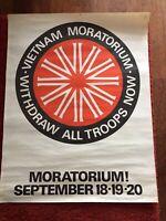 1970 Vietnam Moratorium Original Anti War Sydney Protest March Poster