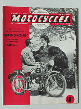 ANCIENNE REVUE MOTOCYCLES N° 52 - 15 MAI 1951 *