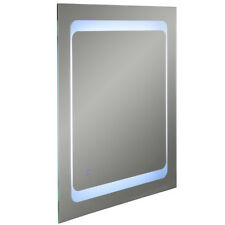 LED Illuminated 80 x 60cm Rectangular Wall Mirror Light Demister Dimmer - SP1215