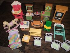16pc ASSORTED FISHER PRICE LOVING FAMILY DOLL HOUSE FURNITURE
