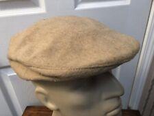 Vtg THE GUN CLUB by STETSON Cabbie Newsboy Cap Hat CAMEL HAIR & WOOL S/M USA