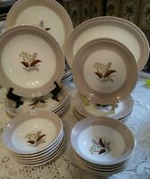 Vtg Cunningham & Pickett China Vogue Mid Century Dinnerware set, 29 piece, EUC