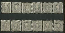 1942 USA Silver Tax Stamps #RG83-RG94 Mint VF most NH Catalogue Value $250