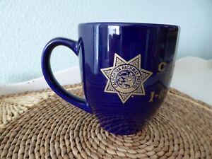Vintage CALIFORNIA HIGHWAY PATROL Coffee Mug CHP Emblem Badge Shield