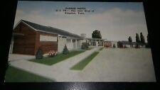 1940's Us 70 Parker Motel Kingston Tennessee Linen Postcard