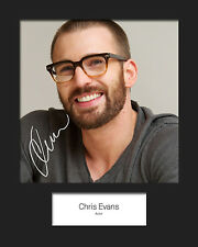 CHRIS EVANS #1 Signed Photo Print 10x8 Mounted Photo Print - FREE DELIVERY