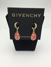 $38 Givenchy Peach Teardrop Earrings #645