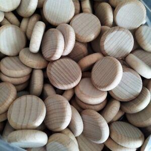 2.7cm  Wood Coins Counters,Discs Peg Doll Montessori, Steiner  x 5  MULTI-BUY
