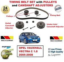 FOR OPEL VAUXHALL VECTRA C 1.8 2005-2008 TIMING BELT +PULLEYS +CAMSHAFT ADJUSTER