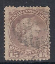 """Canada Scott #29b  15 cent red lilac """"Large Queen""""    HCV $150"""