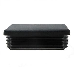 4 Pack Rectangular Tube Insert 75mm x 50mm, Plastic Chair Feet, Tube End Caps