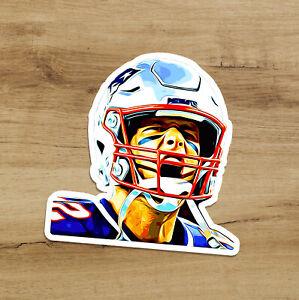 Tom Brady Drawing GOAT Premium Vinyl Decal Sticker Quarterback 3 inches