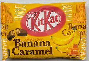 Japanese Kit Kat Banana Caramel 12 Mini bar Japan Limited 1Bag (12pieces) Nestle