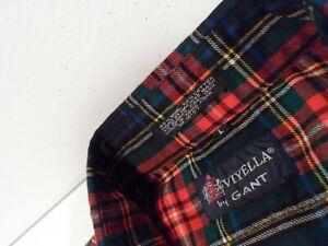 Viyella by Gant Men's Flannel Shirt Sz Large Soft Wool Blend Plaid Button Up Top