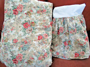 VTG RALPH LAUREN Brittany Twin COMFORTER & BED SKIRT Floral Red Yellow Blue New