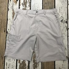 ADIDAS Golf • Men's Khaki Brown Flat Front Golf Shorts size 38