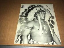 Johnny War Eagle 1970's Grand Prix 8x10 Wrestling Photo
