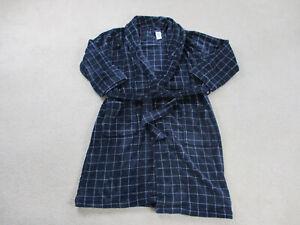 NEW Tommy Hilfiger Robe Mens One Size Blue White Pajama Lounge Sleepwear Mens