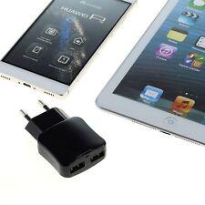 Chargeur Secteur Voyage Double USB 2,1A 5V Auto-ID Smartphone Tablette GPS Noir