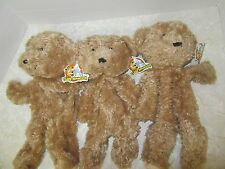 Lot of 3 Teddy Mountain Bear Plush Stuffed Animal Build Stuff Yourself Party