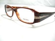 9010c0ad47 Prada Eyeglasses frames VPR 19H Brown 70I-1O1 Authentic 51-15-135