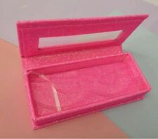 NEW 1X Hot Pink Glitter false eyelash packaging box magnetic case w/tray