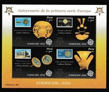 Europa stamps 50 years mnh souvenir sheet 2006 Peru #1482 Mochica Headdress