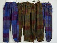 Pants Stripped Tibetan cotton hippy Men's Nepal yoga Comfy Unisex XXL