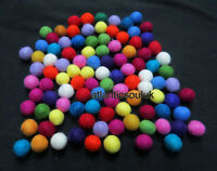 FB3A Garland wholesale x lot 2.5 cm Decor wool Felt Ball 25 mm Pom Pom Beads