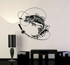 Vinyl Decal Fish Fishing Rod Hobbies Man Wall Stickers Mural (ig3597)