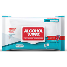 More details for antibacterial wipes sanitising surface cleaning 70% alcohol handy pack of 70