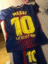 Nike Boys  Messi Barcelona Jersey and Shorts Set Size 26