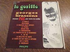 33 tours GEORGES BRASSENS chansons pas pour toutes les oreilles le gorille