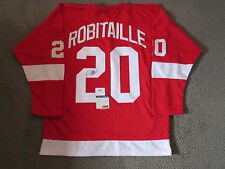 LUC ROBITAILLE SIGNED DETROIT RED WINGS JERSEY PSA/DNA COA AB78877