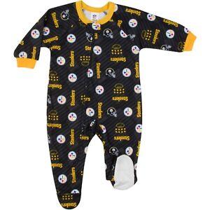 Gerber NFL Pittsburgh Steeler Pajamas Infant Baby Toddler Blanket Sleeper Footed