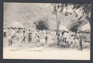 Printed Postcard Antigua West Indies A Native Cricket Match Sport Team Game PC