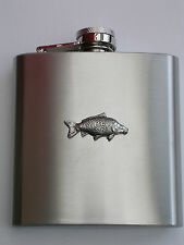 COMMON CARP FISH FISHING  BRAND NEW 6OZ STAINLESS STEEL HIP FLASK great gift!!