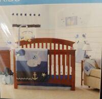 Nautica Kids Brody 4 Piece Crib Bedding Set & Diaper Stacker -NEW FREE SHIPPING