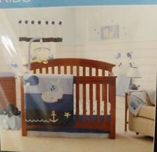 Nautica Kids Brody 4 Piece Crib Bedding Set & Diaper Stacker -NEW FREE SHIPPING